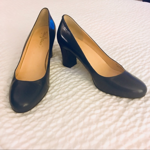 ebba23324d334 Cole Haan Shoes - Cole Haan Navy Blue Pumps with Block Heel Size 6